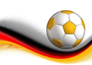 weißer und gelber Fußball 300x212