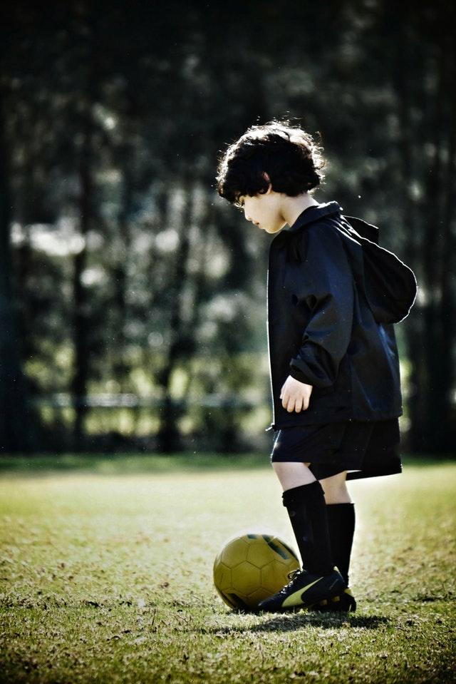 Fussballspieler Kind